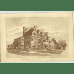 1908 Rectory Donhead St Andrew Salisbury Ce Ponting Architect