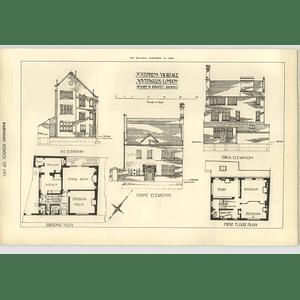 1908 St Stephen's Vicarage Southwark London John Rhodes Architect