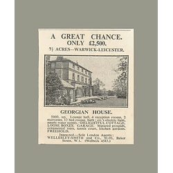 1936 Georgian House 7 Acres Warwick Leicester 12 Bedrooms, £2500
