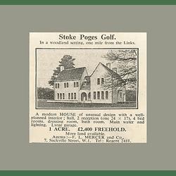 1936 Stoke Poges Golf, Modern House 4 Bedrooms 1 Acre, £2400