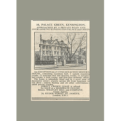1936 10, Palace Green, Kensington Fine Detached House, 11 Servant Bedroom