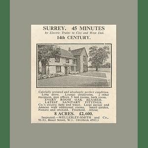 1936 Restored 14th Century Home 5 Bedrooms, Surrey, 8 Acres, £2600