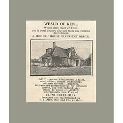 1936 The Weald Of Kent Modern House Six Bedrooms 1 1/2 Acres, £2750
