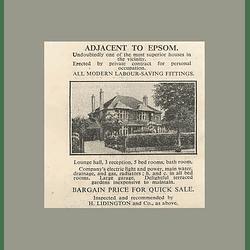 1936 Adjacent To Epsom, 5 Bedrooms, Terraced Gardens, Bargain Price Quick Sale