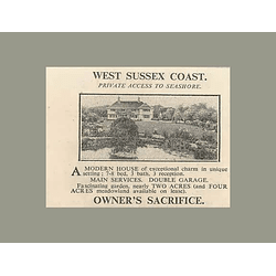 1936 West Sussex Coast 8 Bedrooms, 2 Acres, Private Access Seashore
