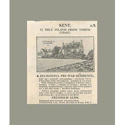 1936 Kent, 1 Mile Inland Prewar Residents 8 Bedrooms 2 Acres £3500