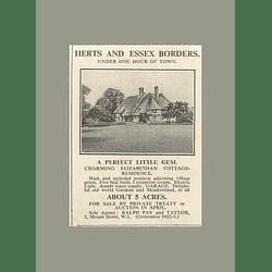 1936 Hertfordshire Essex Borders Elizabethan Cottage Five Bedrooms 5 Acres,