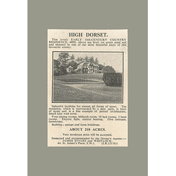 1936 High Dorset 18th-century Country Residence 210 Acres, 10 Bedrooms,
