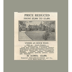 1936 One Hour West Of London 9 Bedrooms 16 Acres, £3450
