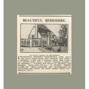 1936 Beautiful Modern Berkshire Home, Five Bedrooms 2 Acres, £2200