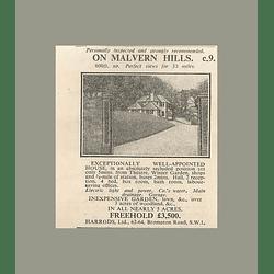 1936 On Malvern Hills Five Minutes Winter Garden 4 Bedrooms 5 Acres £3500