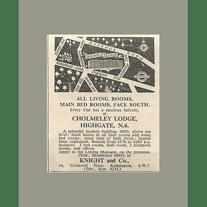 1936 Flats At Cholmeley Lodge, Highgate, N6 £170 p.a. Rent