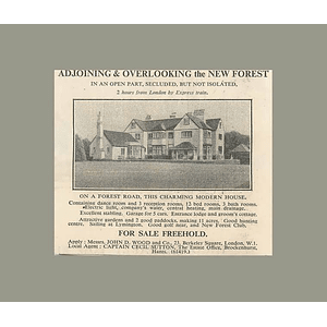 1936 Overlooking The New Forest Modern House On Forest Road 11 Acres