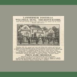 1936 Lammermuir Foothills, Wellfield, 8 Bedrooms, 11 Acres, £3500