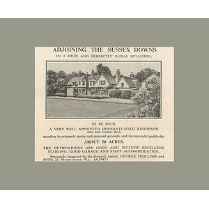 1936 Adjoining Sussex Downs 10 Bedrooms, 50 Acres, To Be Sold