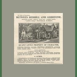 1936 Lone Oak, Nutfield, Surrey, Quaint Little Property, Six Bedrooms, 6 Acres