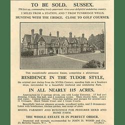 1936 Tudor Style Residence In 115 Acres, 7 Miles Tunbridge Wells,eridge,