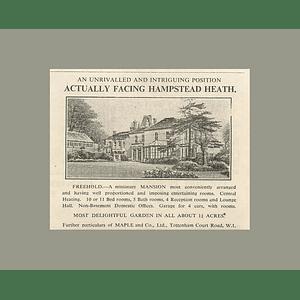 1936 Miniature Mansion Facing Hampstead Heath 11 Bedrooms 1 Acre