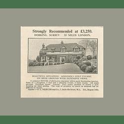 1936 Compact House Five Bedrooms Three Receptions Dorking Surrey £3250