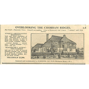 1936 Overlooking Chobham Ridges, Five Bedrooms, Offices £3500