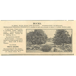 1936 Bucks, 30 Minutes Paddington, 30 Acres, 13 Bedrooms, £10,000