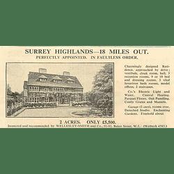 1936 Surrey Highlands, 18 Miles London, 2 Acres, 10 Bedrooms, £5500