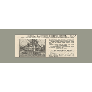 1936 Surrey Near Worplesdon 9 Bedrooms, 1 Acre, £3750