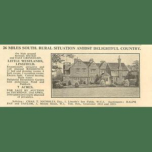 1936 Little Westlands, Lingfield, 11 Bedrooms, 7 Acres