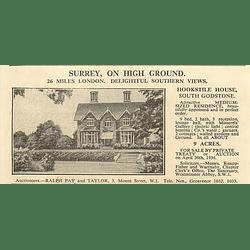 1936 Hookstile House, South Godstone, 9 Beds 9 Acres