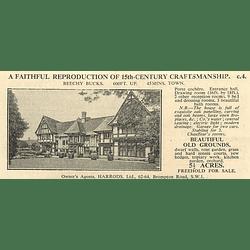 1936 Beechy, Bucks, 45 Minutes London 9 Bedrooms 5 Acres