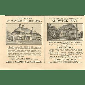 1936 Aldwick Bay, Four Bedrooms, Sea View, £1695
