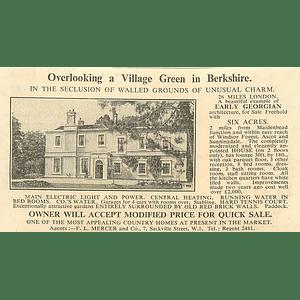 1936 Overlooks Village Green Near Maidenhead Georgian, 8beds 6 Acres