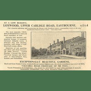 1936 Loxwood Upper Carlisle Road Eastbourne 8 Bedrooms, 5 Acres
