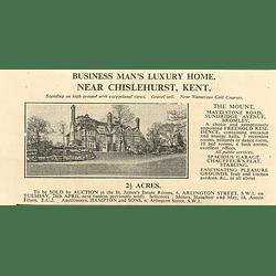 1936 The Mount, Mavelstone Road Sundridge Avenue Bromley, 2 Acres,