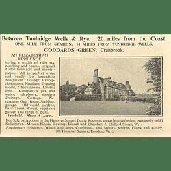1936 Goddards Green, Cranbrook, Elizabethan Residence, 6 Acres,
