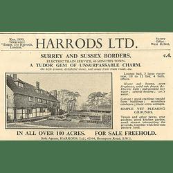 1936 Surrey And Sussex Borders Tudor Gem, 10 Bedrooms, 100 Acres,