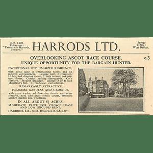 1936 Overlooking Ascot Racecourse, 10 Bedrooms, 5 Acres,