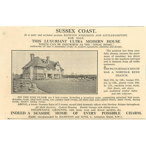 1936 Ideal Home Sussex Coast Norfolk Reed Thatch 8 Bedrooms