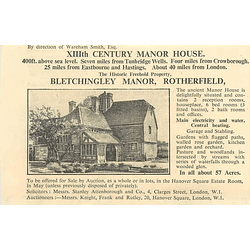 1936 Bletchingley Manor, Rotherfield, 57 Acres,