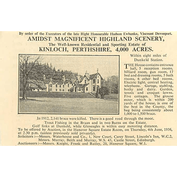 1936 Sporting Estate Of Kinloch Perthshire, 4000 Acres,