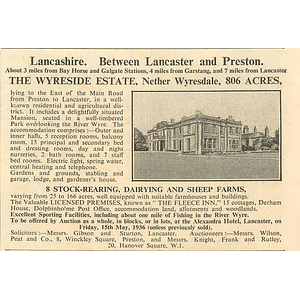 1936 The Wyreside Estate, 806 Acres