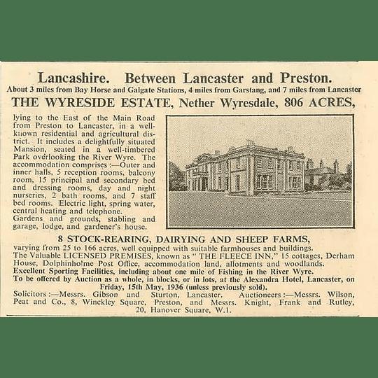 1936 The Wyreside Estate, 806 Acres
