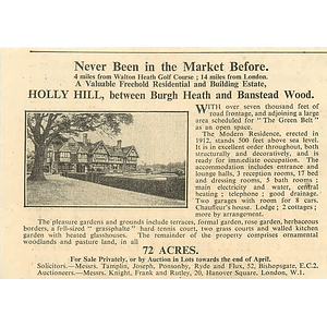 1936 Holly Hill, Between Burgh Heath And Banstead Wood 72 Acres