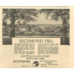 1936 Key Flats In Richmond Hill, £195-£285 p.a.