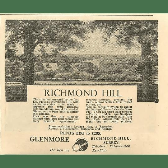 1936 Key Flats In Richmond Hill, £195-£285 p.a.