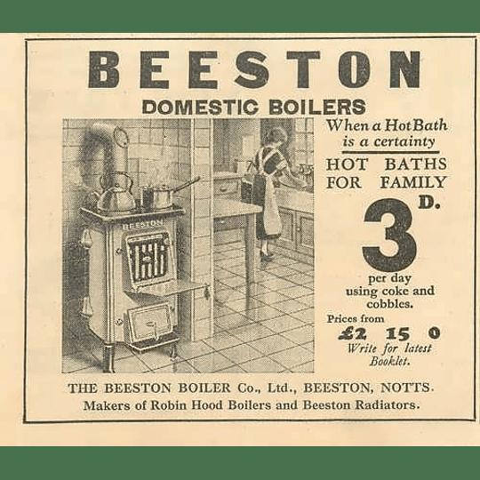 1936 Beeston Boiler Company Beeston Notts Robin Hood Boilers