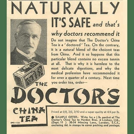 1936 Doctors China Tea Harden Brothers And Lindsay Mincing Lane London