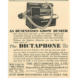 1936 Dictaphones In Daily Use, Thomas Dixon Kingsway London