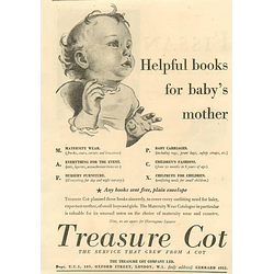 1936 The Treasure Cot Company Oxford Street London Helpful Books