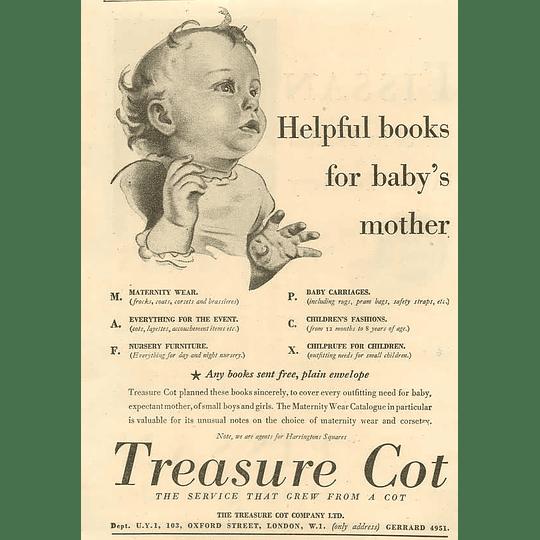1936 The Treasure Cot Company Oxford Street London Helpful Books